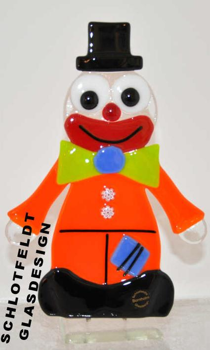 Clown of Glass from Schlotfeldts-Glasdesign Svaneke on Bornholm