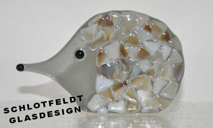 Hedgehog of Glass from Schlotfeldts-Glasdesign Svaneke on Bornholm