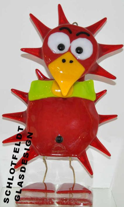 Sunflower bird of Glass from Schlotfeldts-Glasdesign Svaneke on Bornholm