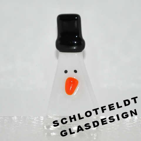 Little Snowman of Glass from Schlotfeldts-Glasdesign Svaneke on Bornholm